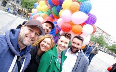 RainbowFlash Hülya Feise CSD 2018