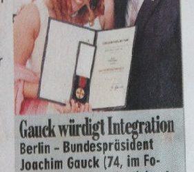 Hülya Feise´ye Liyakat Nisani Sabah Gazetesi